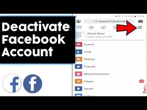 how to deactivate your facebook id.